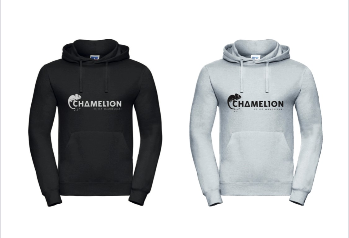 Hoodie Chamelion Logo B&W